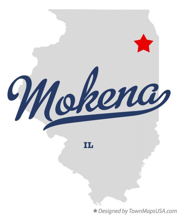 Basement Waterproofing in Mokena, Illinois Map Outline